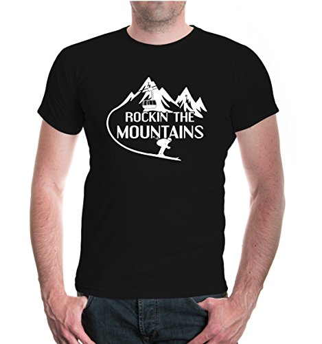 buXsbaum® T-Shirt Rockin the Mountains Black-White