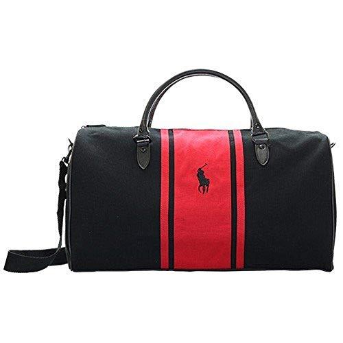 Ralph Lauren - Bolsa de Playa Negro Rojo