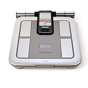 Omron HBF 375 Karada Scan Complete Digital Body Composition Monitor With 3 Months Memory To Monitor BMI, Segmental Body Fat & Skeletal Muscle, Progress Chart and Vesceral Fat Level