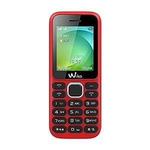 Wiko Lubi 3 Téléphone portable débloqué 2G (Ecran : 1.77 pouces 100 Mo Double SIM) Rouge