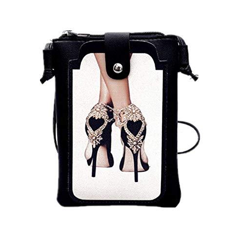 Ateasy HB0000530 Karikatur Sprühen Mini Handytasche Retro schulranzenmädchenteenager geldbörsedamenklein umhängetaschedamenklein frauentaschen damentaschensale schultertasche (High Heels)