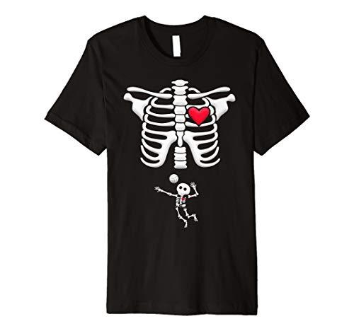Schwangerschafts Baby Volleyball Skull Skelett Shirt Halloween