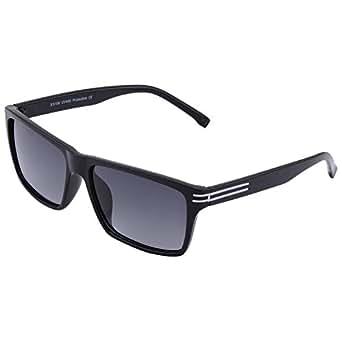ECOSSE Rectangular Sunglasses (Black, Es106)