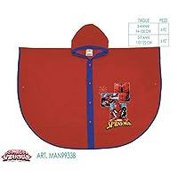 PERLETTI 99338 Raincoat Poncho Spiderman, Multi Colour, One Size