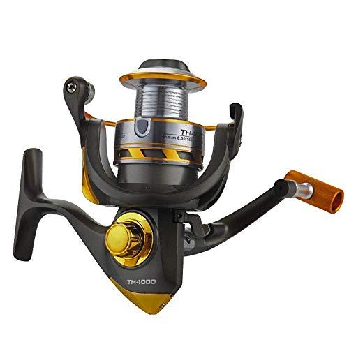 Angelrollen Angelrollen Salzwasser Rotary Fishing Gear Angelschnur Spinning Wheel (Farbe: Schwarz, Größe: 6000)