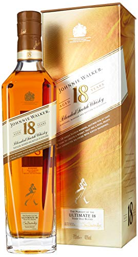 *Johnnie Walker 18YO Blended Scotch Whisky, 70 cl*
