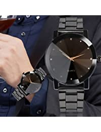SLB Works Brand New Luxury Women Men's Watch Crystal Stainless Steel Analog Quartz Date Wrist Watch