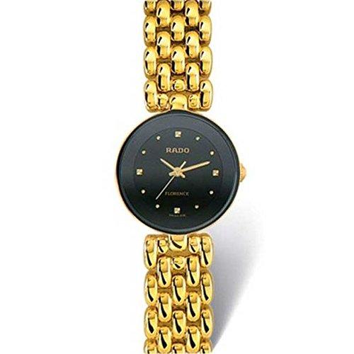 Rado Flourence Damen-Armbanduhr Diamant 23mm Batterie Analog R48745153 (Batterie Rado-uhr)