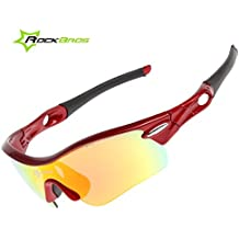 ROCKBROS Outdoor 1pcs Occhiali polarizzato Sunglasses UV Glasses Occhio Protezione (Windproof, Dust-proof,anti-Shock, Anti-Sand) + 4pcs glasses lenses + Eye Frame + Myopia Frame + Custodia Borsa Caso Per SPORTIVI Pesca, Nuoto, Barca a Remi, Vela, Moto d'acqua, Windsurf CS008