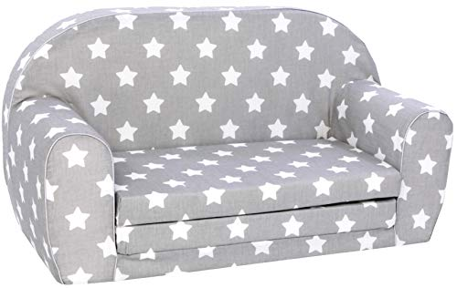 KNORRTOYS.COM 68441 Knorrtoys 68441-Kindersofa-Stars White Kindersofa