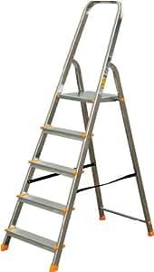 alu leiter haushaltsleiter malerleiter mehrzweck klapptrittleiter 5 stufen 120 baumarkt. Black Bedroom Furniture Sets. Home Design Ideas