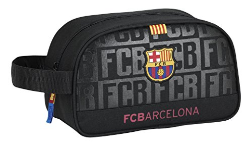 Futbol Club Barcelona – Neceser con asa Adaptable a Carro Color Negro (SAFTA 811725248)