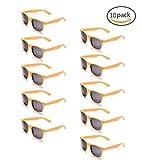 ONNEA 10 Coppie Set Occhiali da Sole per Bambini Adulti (Gialla 10-Pack)