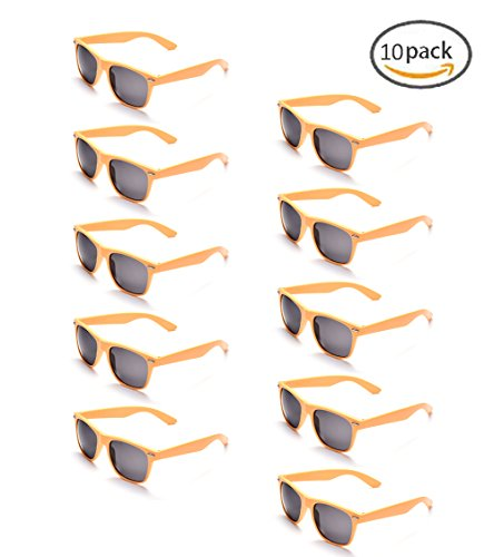 ONNEA 10 Paare Party Favors Sonnenbrille Set Sommer Kinder Damen (Gelb 10-pack)