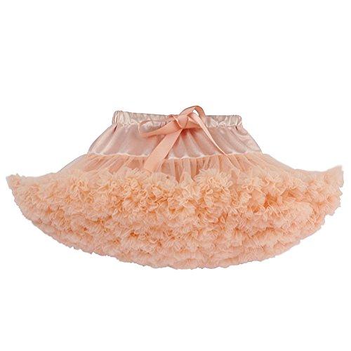 GTKC Mädchen Tutu Rock Prinzessin Flauschigen Multi-layer Party Kleid peach Red (Peach Prinzessin Up Dress)