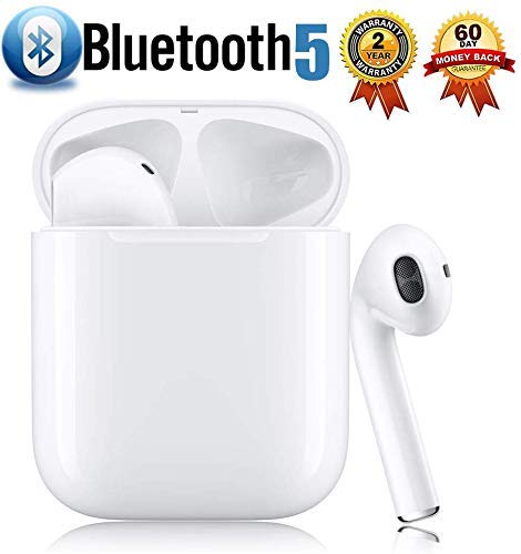 Cuffie Bluetooth 5.0 Auricolari Headphones,Custodia Senza Fili Wireless Cuffie Bluetooth Mini Auto Earbuds con Microfono...