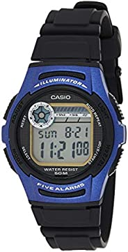 Casio Mens Quartz Watch, Digital Display and Resin Strap W-213-2AVDF