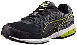 Puma Mens Agenor DP Black, Lime Punch and White Mesh Running Shoes - 6 UK/India (39 EU)