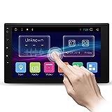 Autoradio mit GPS Navigation 7 Zoll HD 1080P Touchscreen Doppel Din Autoradio Bluetooth FM Radio Video unterstützt Rückfahrkamera Mirror Link AM/FM/USB/TF/AUX