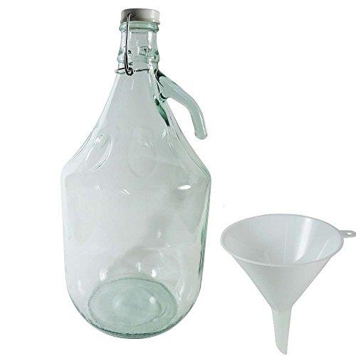Viva casalinghi - Vino Balloon/damigiana / Bottiglia di Vetro 5 litro con Tappo in Ceramica