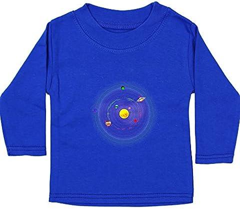 Hippowarehouse Solar system baby unisex t-shirt long sleeve