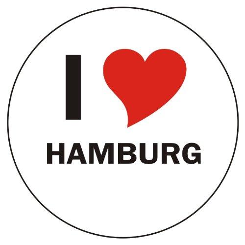 I Love HAMBURG Laptopaufkleber Laptopskin 210x210 mm rund