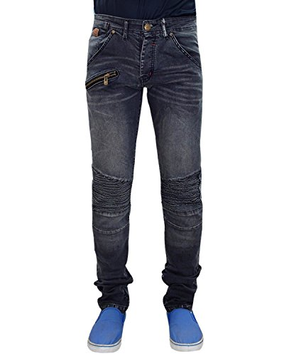 Neue Herren Jacksouth Stretch SLIM Fit Denim Ripped Paint Stain Bikers Jeans Grey