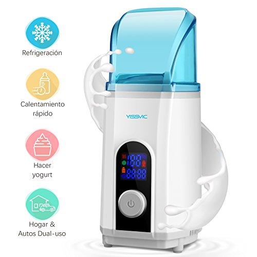 Calienta Biberón Refrigerador Yogurtera 3 en 1, YISSVIC Multifuncional Enfriador y Calentador...