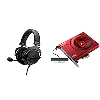 beyerdynamic MMX 300 Premium Over-Ear Gaming-Headset (2nd Generation) mit Mikrofon. Geeignet für PS4, XBOX One, PC, Notebook & Creative Sound Blaster Z Interne Soundkarte