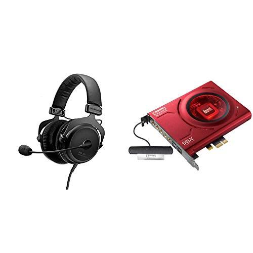 beyerdynamic MMX 300 Premium Over-Ear Gaming-Headset (2nd Generation) mit Mikrofon. Geeignet für PS4, XBOX One, PC, Notebook & Creative Sound Blaster Z Interne Soundkarte thumbnail