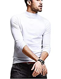 8e646d60d5653 DENIMHOLIC Men s Cotton Full Sleeve Classic High Neck T-Shirt