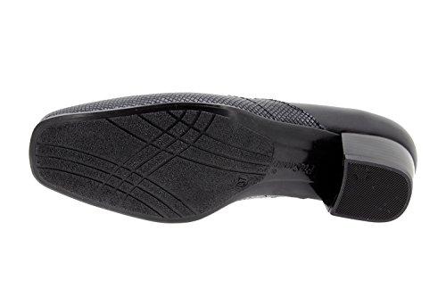 Chaussure femme confort en cuir Piesanto 9105 escarpin confortables amples Noir