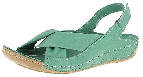 Andrea Conti Damen 0027437 Offene Sandalen, Farbe:Grün, Größe:38 EU