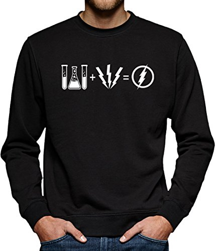 TLM Flash Equation Sweatshirt Pullover Herren XL Schwarz