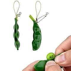 Idea Regalo - Puchi Puti Mugen Edamame portachiavi portachiavi Estrusione Beanie Pea Gift Toys (Randomized) 2 pezzi