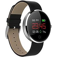 Reloj Inteligente Xinan Actividad deportiva profesional Sleep Tracker Reloj inteligente con ritmo cardíaco Reloj elegante de fitness podómetro con interfaz de usuario colorida (❤️Plateado)