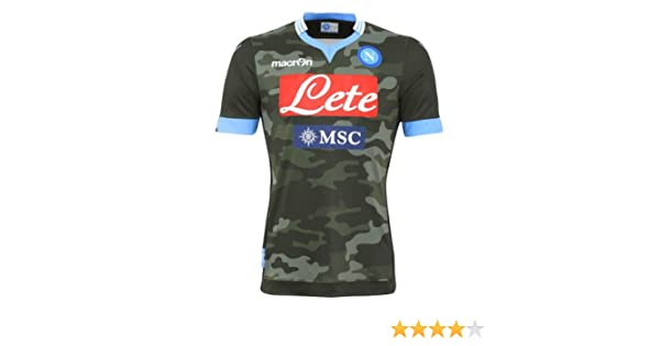 Macron Ssc Napoli Naples Away Jersey 2013 14 Camouflage Amazon Co Uk Sports Outdoors