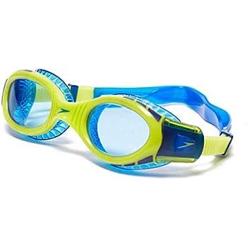 9ac544037ea5f Speedo Kinder Futura Biofuse Flexiseal Junior Schwimmbrille, Surf Limetten  Grün/Bondi Blau, One Size