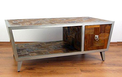 Tv möbel industrial design  Großes Java Sideboard aus Metall und Teakholz | TV-Bank im ...