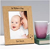 "PERSONALISED First 1st Mothers Day Gifts for Mummy, Mommy, Mammy - Custom New Mummy Photo Frame Gifts from Baby Son, Baby Daughter - First 1st Mothers Day Gifts - 5"" x 7"" and 6"" x 4"" Photo Frames"