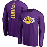 T-shirt da allenamento slim fit Lakers James manica lunga