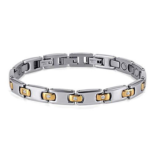 WJSW Edelstahl Magnet Armband Männer und Frauen