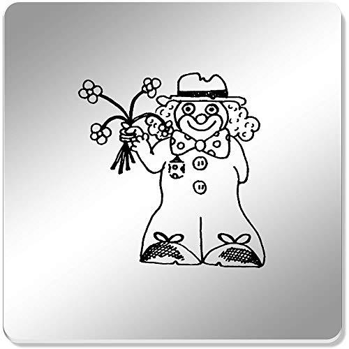 Azeeda 6 x 'Clown' Spiegel Untersetzer (CR00054334)