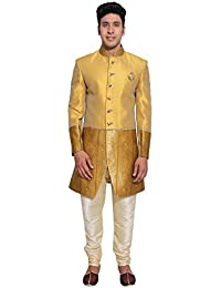 Favoroski Men's Embroidered Sherwani Suit With Different Color & Designs Available