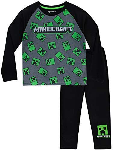 fdac0e8c7 Minecraft Pijamas de Manga Larga para Niños Creeper 8-9 Años