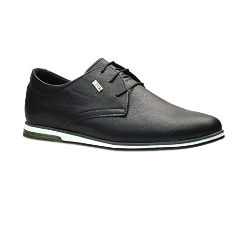 Mens New Casual Black Blue Suede Smart Formal Lace Up Shoes SIZE...