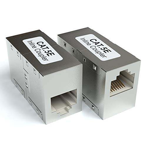 JAMEGA - 2er Pack RJ45 Ethernet Lan Kabel Kupplung CAT6 DSL Netzwerkkabel Verbinder Adapter Modular Netzwerkkoppler für Patchkabel, Ethernetkabel und Lankabel