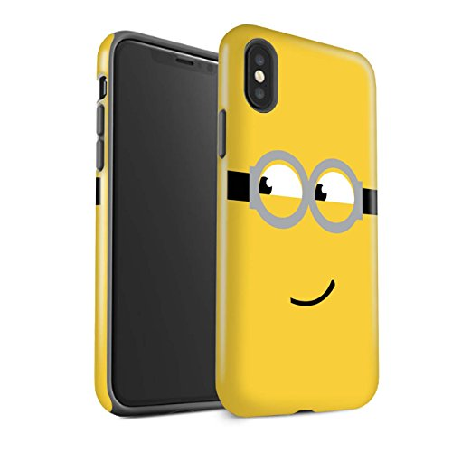 STUFF4 Glanz Harten Stoßfest Hülle / Case für Apple iPhone X/10 / Dave/Grinsen Muster / Süßer Minion Inspiriert Kollektion (Despicable Me Iphone 4 Fall)