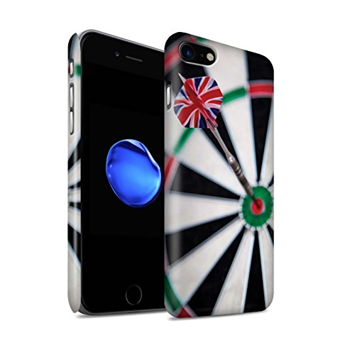 STUFF4 Matte Snap-On Hülle / Case für Apple iPhone 8 / Doppel 10 Muster / Darts Foto Kollektion Dartflug