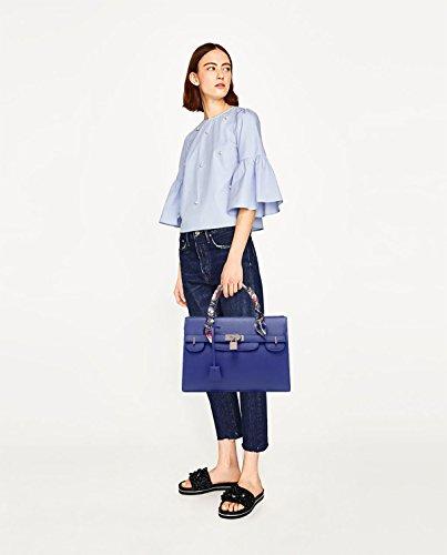 Sunas 2017 Nuova borsa borsa tracolla grande modello trasversale pacchetto borsa Platinum Blu scuro pacchetto